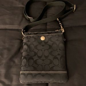Coach Black Signature Crossbody Bag